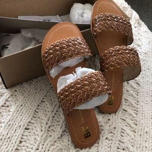 BC brand woven slide sandals size 6
